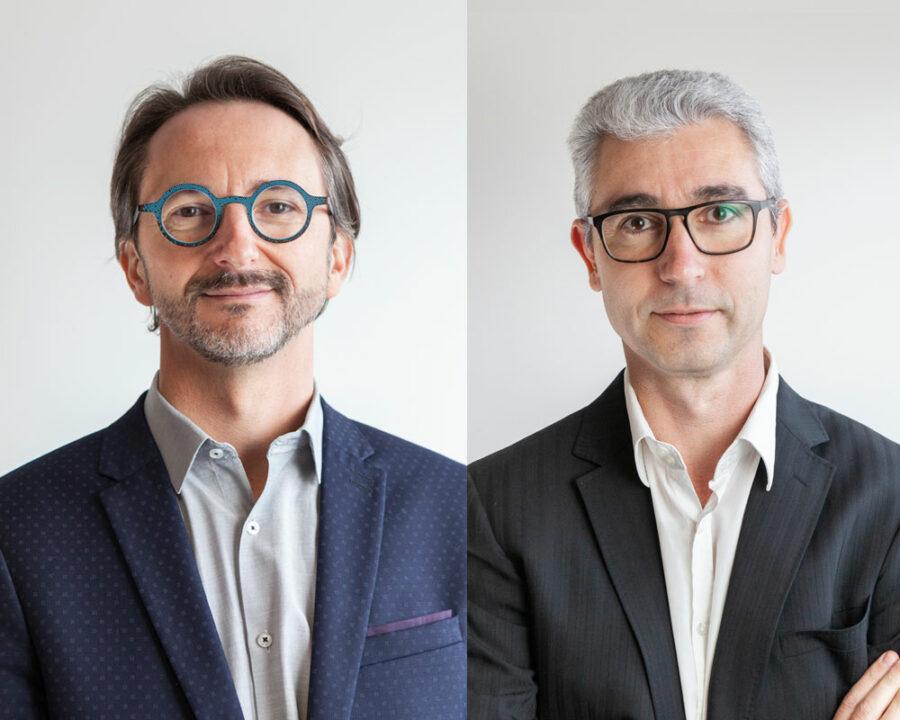 Olivier LÉONARD : Architecte D.P.L.G. Gérant,Associé, Créateur _ Jean-Christophe TOLLET : Maître d'œuvre, Économiste, Associé