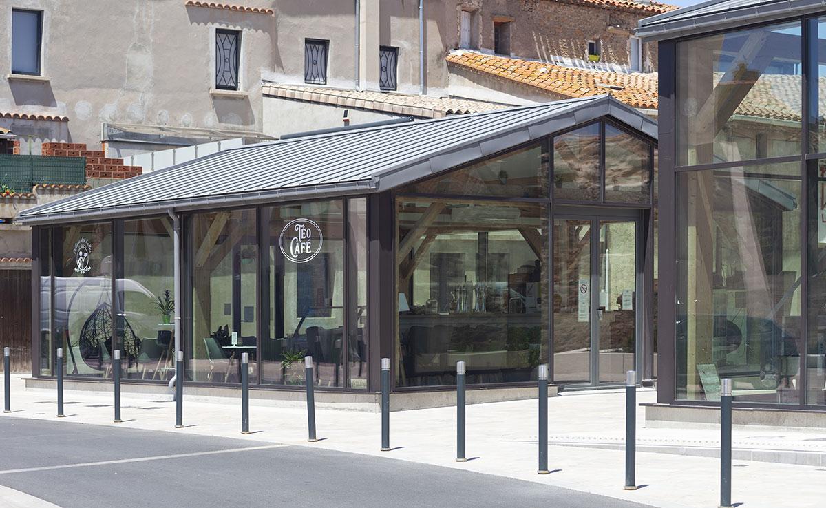 Renouvellement urbain place Émile Cabrié, Lézignan-Corbières.