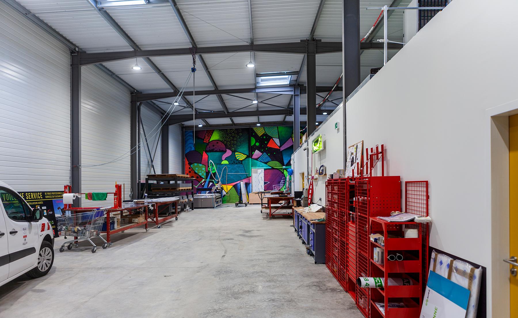 Plastimage, entrepôt - Bâtiment industriel